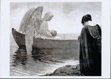 Print Angel Carrys Baby to Heaven Sad Mother Crying Mourning Death of Her Child