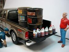 6 Detailed Gallon Jugs of Oil #1 - Very Detailed - 1/18 Scale Garage Diorama