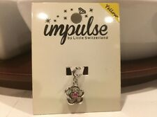 NEW Impulse by Little Switzerland Sterling Silver Ruby Rose Charm