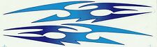 PLANCHE TUNING 2 AUTOCOLLANT STICKER TRIBAL BLEU TURQUOISE DIMENSION 27,5 X 4 CM