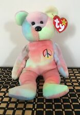 TY Beanie Baby Orso PACE pastello Made in Indonesia