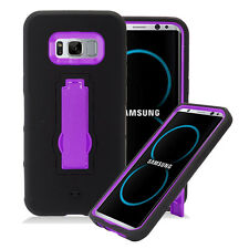 SAMSUNG GALAXY S8+ PLUS G955 BLACK PURPLE IMPACT SHOCKPROOF CASE RUGGED COVER