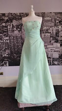 Red Carpet Lace up Sequinned Gown (Pale Green) Prom, Ball, Pageant, RRP £200+