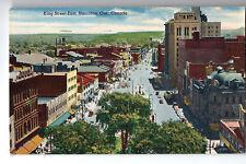 Hamilton Ontario King Street Postcard 1959