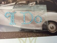 I Do Wedding Shoe Sticker Applique SOMETHING BLUE Rhinestone Post Free
