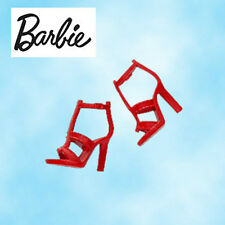 Barbie Basics Shoes~RED ANKLE-WRAP SANDALS~For:Fashionistas/Silkstone/FR/Wu