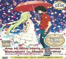 DVD Anohana: The Flower We Saw That Day (TV 1 - 12 End) DVD + Free Mystery Gift