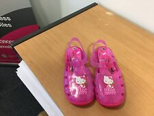 girls hello kitty jelly shoes pink new   size 10 child  (97)