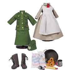 18 Inch Doll WWI Salvation Army Doughnut Girl 18 Piece Clothes And Accessories