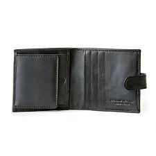 DV Portafoglio uomo piccolo in Pelle Nero con Bottone e Portamonete Porta carte