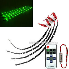 """Wireless Remote + Motorcycle 12"""" 3528 SMD LED Light Strip Flexible Green For BMW"""