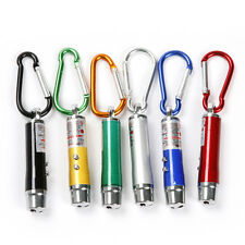 5pcs 3 in 1 Mini Laser Pen Pointer LED Torch Light UV Keychain Pet Toy