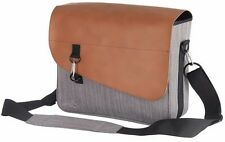 Satchel Side Pannier Bag Grey / Brown Tan Man Ladies Bag Bicycle Cycle Bike