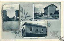 cm 031 1937 POLLENA TROCCHIA (Napoli)  Stazione - Casa del Fascio - viaggiata FP
