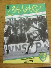 23/10/1985 Norwich City v Everton [Screen Sport Super Cup] (creased, team change