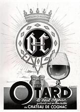 ▬► PUBLICITE ADVERTISING AD Cognac OTARD Château de Cognac G. Chamblet