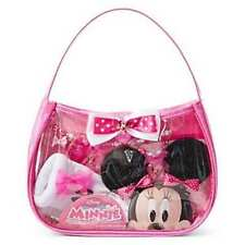 Disney Minnie Mouse 8 piece accessory set Gloves, Bag, Hair clips, Jewelry