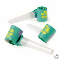 12 Cat Dog Paw Print Blowers Blow Outs Kid Party Goody Loot Bag Favor Supply