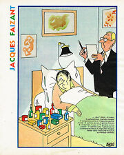 "PUBLICITE ADVERTISING 015  1977  DESSIN JACQUES FAIZANT  ""le malade"""