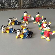Vintage # 8 X Mini Figure Bully Handmade Uncle Scrooge & Goofy Paperone Pippo