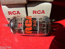 5814A  ECC82  RCA BLACK PLATE    NEW OLD STOCK  VALVE TUBE   MD