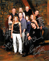 BUFFY THE VAMPIRE SLAYER CAST OF 10 AUTOGRAPH SIGNED PP PHOTO POSTER