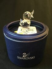 Swarovski Crystal Mini Drake Duckling Mint With Box 7660 NR 40 Swan Signed