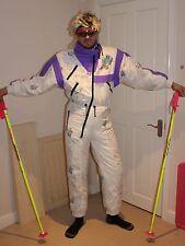 Rétro vintage années 80 années 90 combinaison de ski fluo snowbombing stag apres ski grenouillère rodeo