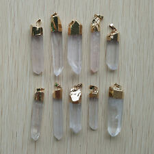 Wholesale 6pcs/lot Natural Gemstone stone crystal pillar Pendants diy jewelry