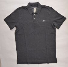 Aeropostale A87 Polo Short Sleeve Casual Shirt Size Medium Charcoal Gray RP$24.5