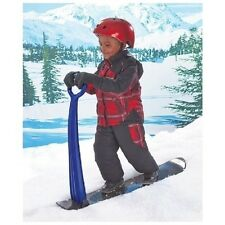 Blue Children's Snow Scooter Fold Up Snowboard Kick Scooter Kid's Sled w/ Handle
