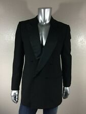 Ermenegildo ZEGNA Men`s Black Double Breasted Sport Tuxedo Coat Jacket Sz 42L