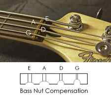 "AxeMasters 1 1/2"" COMPENSATED BRASS NUT for JAZZ Bass and similar"