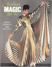 Vintage Ebony Fashion Fair Magazine 1989-90 Fashion Magic Johnson Publication