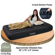 INTEX PILLOW REST CLASSIC AIR BED WITH BUIT-IN-ELECTRIC PUMP Single Airbed