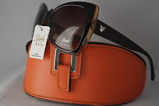DG SUNGLASSES CELEBRITY 2015 BROWN GISELLE CATEYE COLLECTION GIFT ORANGE CASE*11