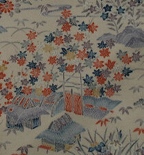 Japanese vintage kimono silk fabric Traditional Japanese Houses