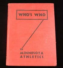 1941 Who's Who in Minnesota Athletics Hardcover Yearbook