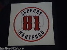 "HELLS ANGELS SUPPORT STICKER ""81 HArtford"" 3.5"" CIRCLE"