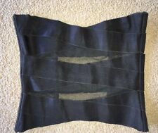 Victoria's Secret Black Nylon/Lycra Semi-Sheer Sexy Waist Cincher Corset Top M
