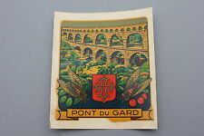Ancien chromotransfert décalcomanie PONT DU GARD vintage 50/60's decalcomanie