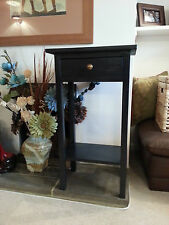 H80 W45 D25cm BESPOKE  BLACK HALL TELEPHONE CONSOLE TABLE STAND DRAWER