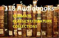* ULTIMATE CLASSIC LITERATURE COLLECTION 118 AUDIOBOOKS 6 AUTHORS on 8 DVDs *