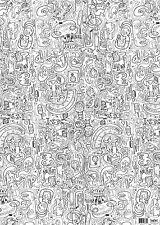 Jon Burgerman Doggie Doodles Colour-in Wrapping Paper