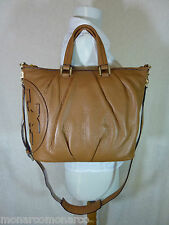 NWT Tory Burch Bark Brown Leather ALL T Small Satchel Bag - $450