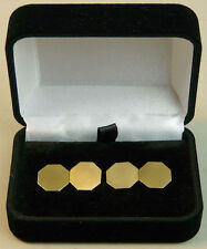 A FINE VINTAGE PAIR OF 9K GOLD GENTS CUFFLINKS LONDON 1954 - 5.8 GRAMS