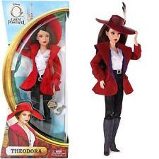 NEW Disney THEODORA Barbie DOLL Wizard of OZ Great & Powerful Red Hat & T Charm!