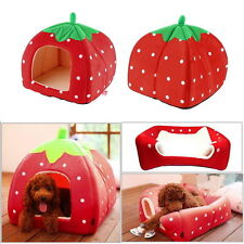 Washable Warm Bed Igloo House Soft Luxury Mat Basket For Pet Puppy Dog Cat NIUK