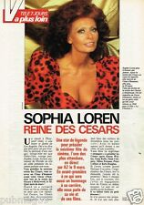 Coupure de presse Clipping 1991 (2 pages et 2 1/2) Sophia Loren