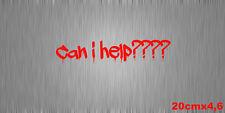 Aufkleber Sticker Can i help??? Shocker Blut Blood Fun JDM Heck Seite Scheibe